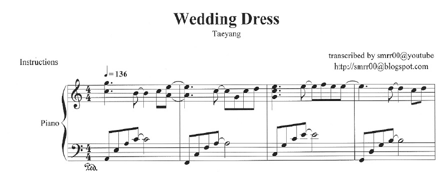 Wedding Dress Piano Sheet Music - Wedding Ideas 2018